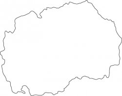 Macedonia Map Outline
