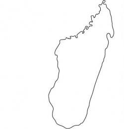 Madagascar Map Outline
