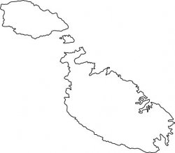 Malta Map Outline