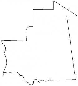 Mauritania Map Outline