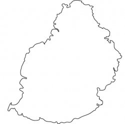 Mauritius Map Outline