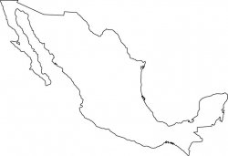 Mexico Map Outline