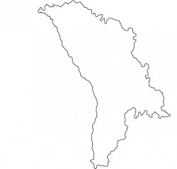 Moldova Map Outline