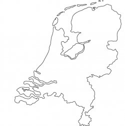 The Netherlands Map Outline