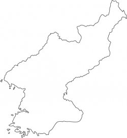 North Korea Map Outline