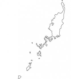 Palau Map Outline