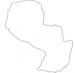 Paraguay Map Outline