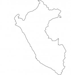 Peru Map Outline