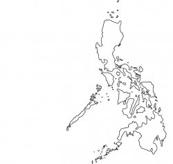 The Philippines Map Outline