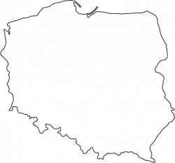 Poland Map Outline