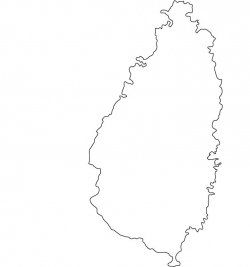 Saint Lucia Map Outline