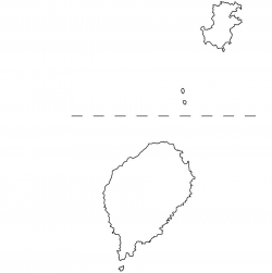 Sao Tome and Principe Map Outline