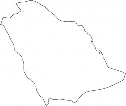 Saudi Arabi Map Outline