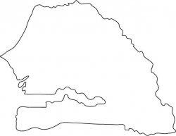Senegal Map Outline