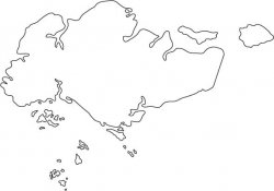 Singapore Map Outline