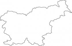 Slovenia Map Outline