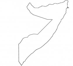 Somalia Map Outline