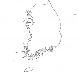 South Korea Map Outline