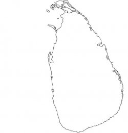 Sri Lanka Map Outline