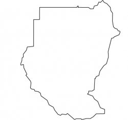 Sudan Map Outline