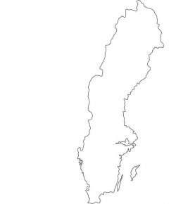 Sweden Map Outline