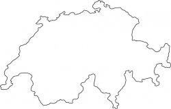 Switzerland Map Outline