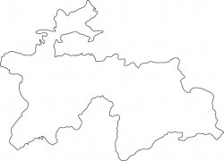 Tajikistan Map Outline