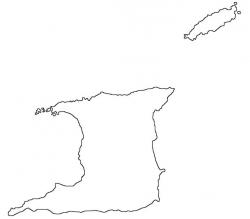 Trinidad and Tobago Map Outline