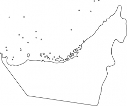 United Arab Emirates Map Outline