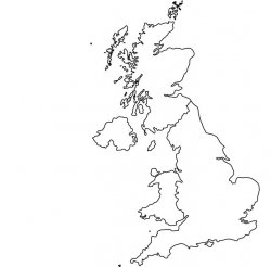 United Kingdom (UK) Map Outline