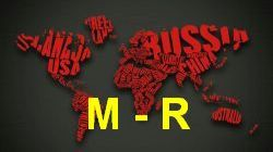 List of countries from M to R image
