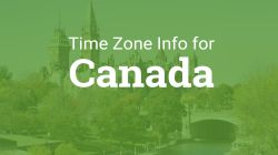 Time zones in Canada image