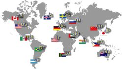 Country codes names image